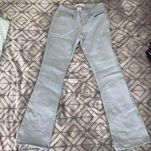 Light denim bootcut jeans